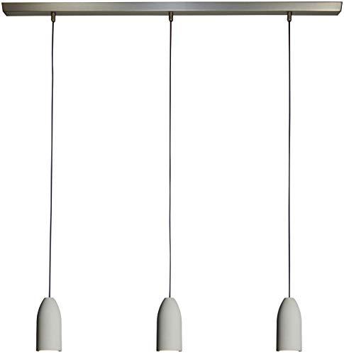 """3-fach Beton Hängelampe\""""light edition\"""" mit 2m Textilkabel in Violett Hell (Lila) von Buchenbusch urban design, die moderne Esstisch Lampe ist höhenverstellbar und dimmbar inkl. 3 LED warmweiß"""