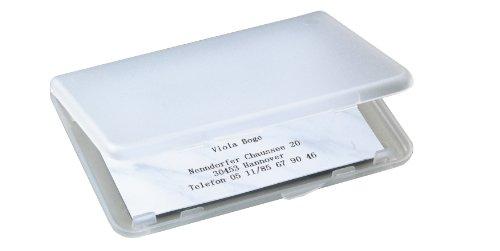 Sigel VA140 leichtes Karten-Etui transparent matt, für 25 Karten