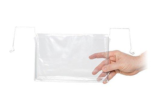 Drahtbügeltasche, Tasche mit Aufhängebügel, Transparent (20-er Pack)