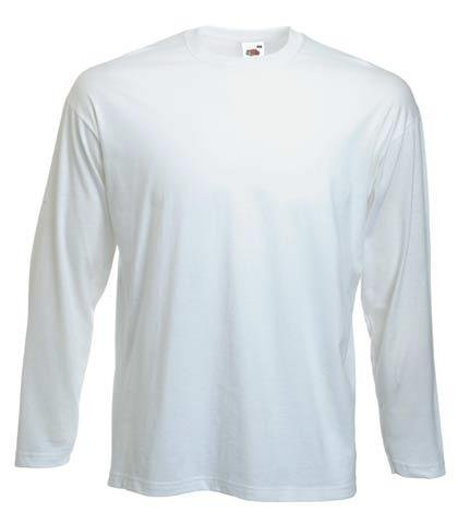 FRUIT OF THE LOOM LONG SLEEVE T SHIRT (S-XXL) (LARGE