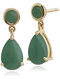 66c8214d5ed4 Jade - Pendientes   Mujer  Joyería - Amazon.es