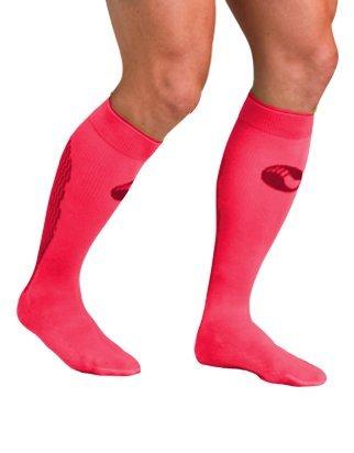 Medilast D322PN - Calcetines de running unisex, color rosa neón, talla M
