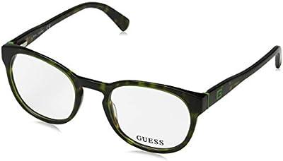 Guess GU1907 Monturas de gafas, Verde Scuro, 49.0 Unisex Adulto