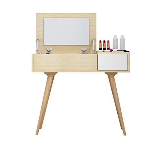 Toeletta Tavoli da Trucco,tavolini di vestizione in Legno massello tavoli  da Trucco scrivanie da Camera Mini Flip tavoli Camera da Letto tavoli  tavoli ...