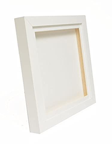 White 3D Deep Box Picture Frame Display Memory Box For Medals Memorabilia Flowers (16x16