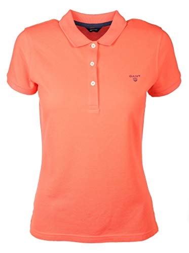 GANT Damen MD. The Summer Pique Poloshirt, Rosa (Strong Coral 643), XX-Large