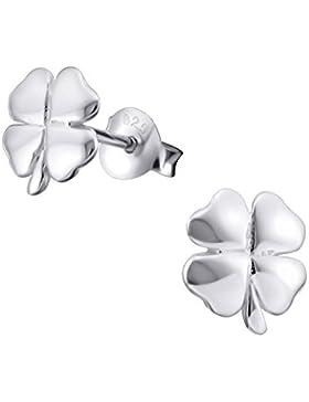 Sterling Silber Four Leaf Clover Ohrringe