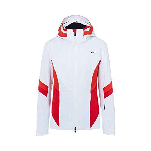 KJUS Women Laina Jacket Weiß, Damen Freizeitjacke, Größe 36 - Farbe White - Fiery Red