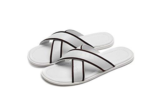 OPP Homme Sandales de la Mode Chaussures en Cuir Nouvelle Collection 3992-Blanc