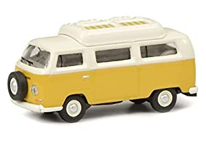 Schuco 452644400 452644400 - Maqueta de Volkswagen T2a Camper (Escala 1:87), Color Amarillo y Blanco
