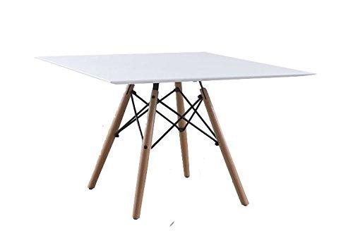 TABLE ENFANT DESIGN PIED MASSIF PLASTIQUE CARRE