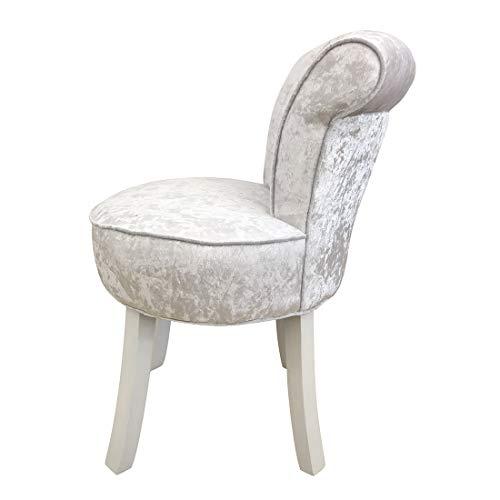 RXBFD chair Vanity Stool mit geknöpfter Rückenlehne, Gepolsterter Hocker mit Massivholzbeinen,...