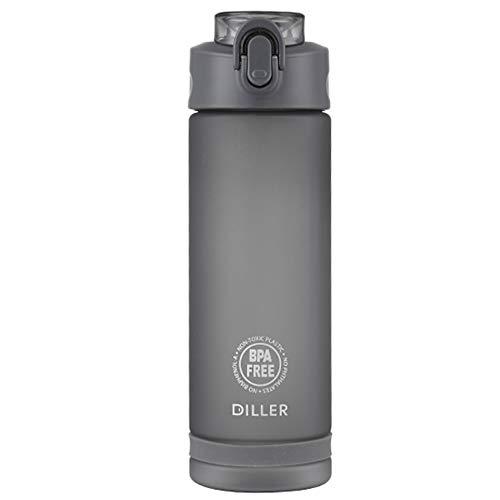XUMENG Sport-Wasserflaschen, 750 Ml BPA-Frei, Auslaufsicher Wiederverwendbar Unisex Haltbar Kunststoff-Getränkeflaschen Für Den Außenbereich Zum Laufen Trinkflasche Für Fitness-Radsport,Gray