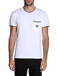 076117900297 Kenzo Homme F005TS0014BA01 Blanc Coton T-Shirt