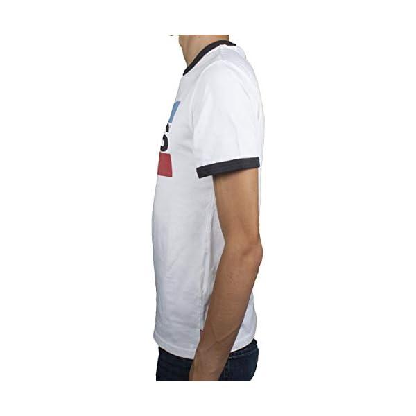 Levi's Hombre Camiseta Ringer Olympic Logo, Blanco