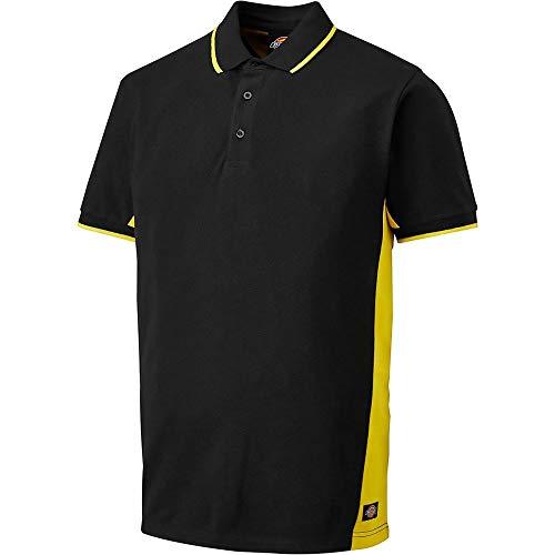 Dickies Hemd/T-Shirt Zweifarbiges Polo-Shirt Black/Yellow-3XL