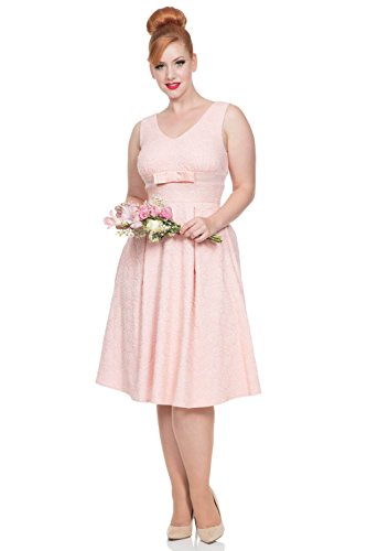 Voodoo Vixen Kleid LAUREN PEACH BRIDAL DRESS 8338 rosa Rosa (Jahre Pin Up Girl 50er)