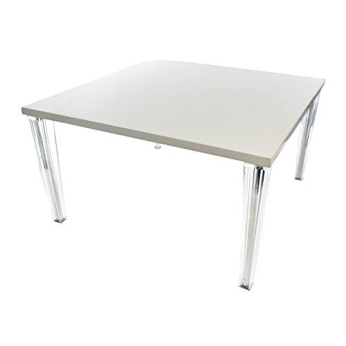 Kartell Top Top Esstisch 130, weiß glänzend 130x130cm