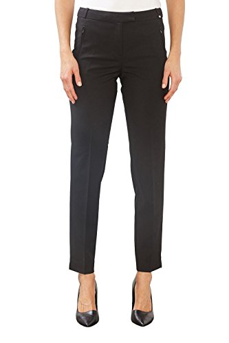 ESPRIT Collection Damen Hose 997EO1B801, Schwarz (Black 001), W27/L32 (Herstellergröße: 36) (Pant Poly Modern Fit)