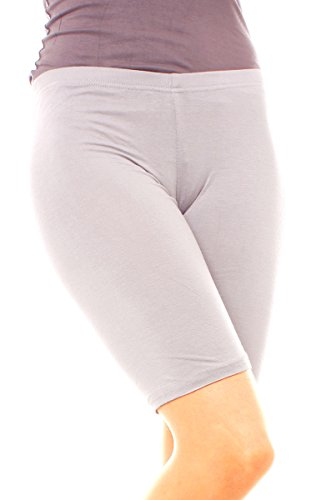 Easy Young Fashion Damen Legging Shorts Kurz Hellgrau