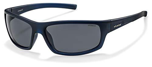 Polaroid - p8411 - occhiali da sole uomo rettangolare - polarizzati - materiale leggero - custodia protettiva inclusa