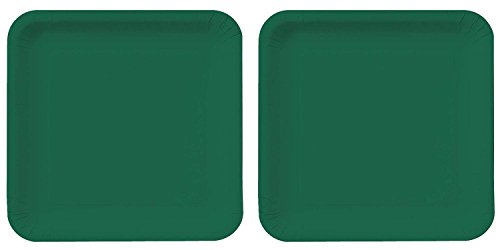 Creative Converting Touch der Farbe 18 Zählen quadratisch Papier Lunch Teller, Hunter Green (2 Pack) Hunter Green Teller