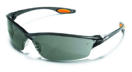CREWS LW212 LAW 2 SAFETY GLASSES POLYCARBONATE GRAY LENS  1-PAIR