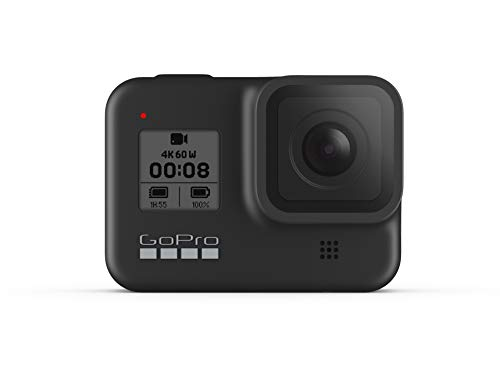 GoPro HERO8 Black Fotocamera digitale impermeabile 4K con stabilizzazione ipersfondata touch screen e controllo vocale Streaming live HD