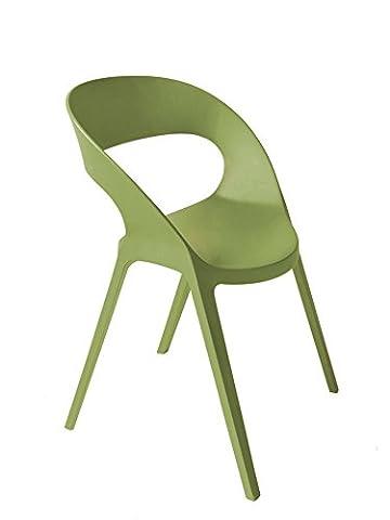 Resol chaise Carla - couleur vert olive, set de 2 unités