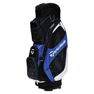 TaylorMade 2016 Corza Cart Bag Mens Golf Trolley Bag 14-Way Divider Black/Blue/White