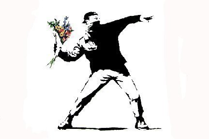 laminierte-mini-poster-banksy-flower-thrower-6096-cm-x-4318-cm-43-x-61-cm-cm
