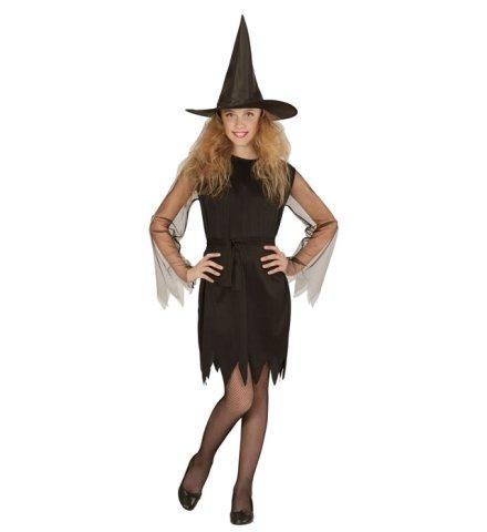 Kinder Hexen Kostüm mit Hut 11-13 Jahre