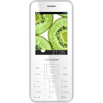 Karbonn K Phone 1 Mobile Phone (White Silver)
