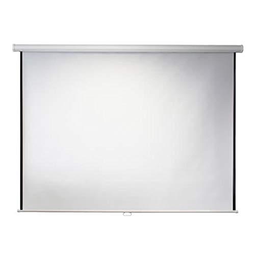 ivolum Rolloleinwand - 200 x 200cm - 1:1 - Als Heimkino-Leinwand oder Business-Leinwand einsetzbar - einfache Montage und Bedienung - Beamer-Leinwand in verschiedenen Größen erhältlich