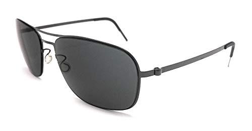 Unbekannt Lindberg Damen Sonnenbrille Grau 58