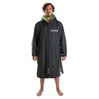 Dryrobe Advance Adult Change Robe - Long Sleeve Surf Poncho Medium Black/Green