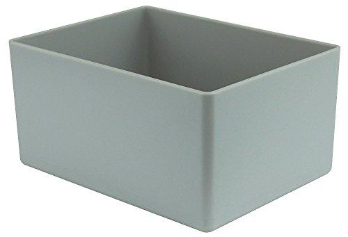 25 Stück Einsatzkasten grau, Höhe 54 mm, LxB = 106x80 mm, Profiqualität für Industrie und Gewerbe