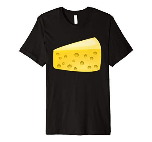 Käse Keil Kostüm T-Shirt Paar mit Wein Kostüm (Pairing Kostüm)