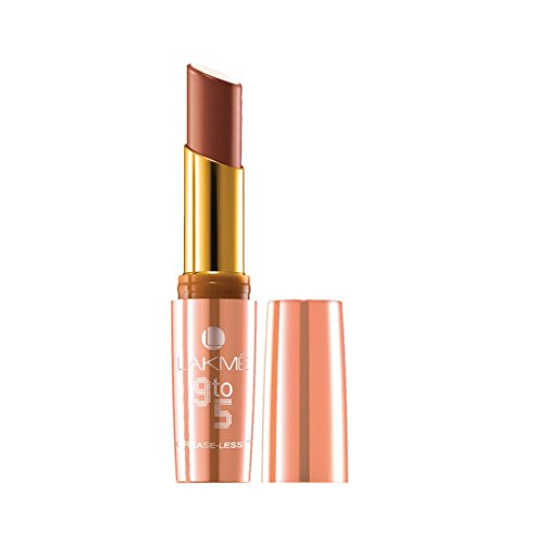 Lakme 9 to 5 Creaseless Creme Lip Color, CB3 Caramel Cut, 3.6 g