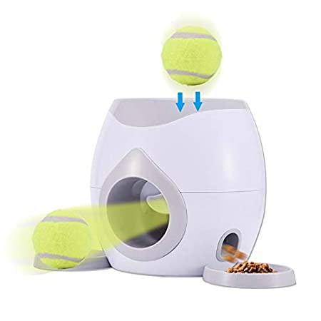 advancethy Haustier Futterspender Mit Tennisball Werfer Automatische Interaktive Nahrungsmittelzufuhr Spielzeug Für…