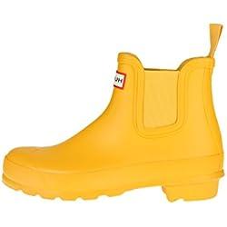 Hunter - Botas de Caucho para Mujer, Color Amarillo, Talla 37 EU