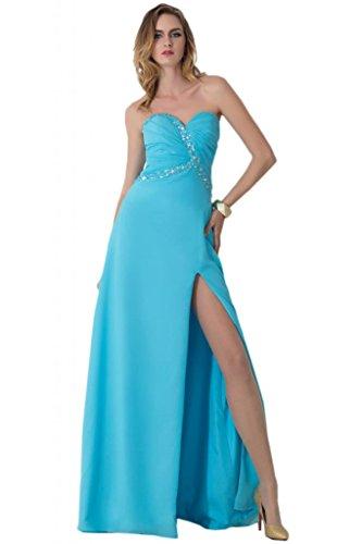 Sunvary anteriori laterali-Lunghezza Gowns for da sera Chiffon Prom Blue
