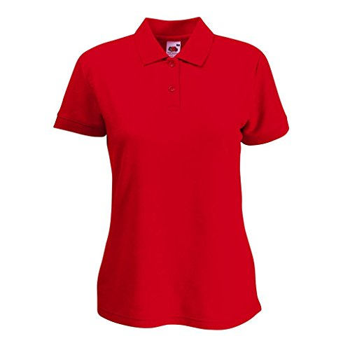 Fruit of the Loom: Ladies` Polo Mischgewebe 63-212-0 Rot (Red 400)