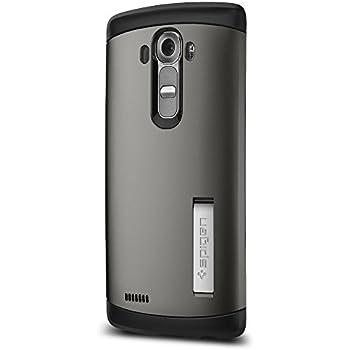 Spigen Coque LG G4, Spigen [Slim Armor] Protection Extreme [Gunmetal] Coussin d'Air, TPU + PC, Kickstand, Coque Etui Housse pour LG G4 (2015) (SGP11524)