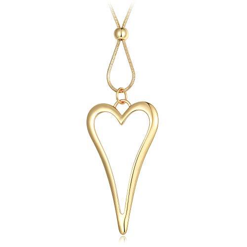 BIRSTONE Kostüm Halskette lang Kette groß Love Herzförmige Anhänger (Herzförmiger Kostüm)