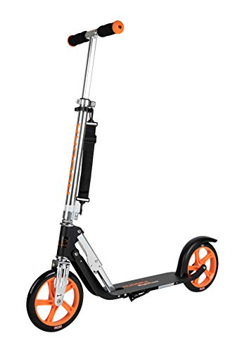 HUDORA Unisex Jugend Big Wheel 205 mm Scooter, Black, orange,
