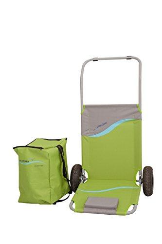 Preisvergleich Produktbild Meerweh faltbarer Strandwagen mit Tasche grün/grau, ca. 118 x 63 x 75 cm, Transportwagen, Strandliege