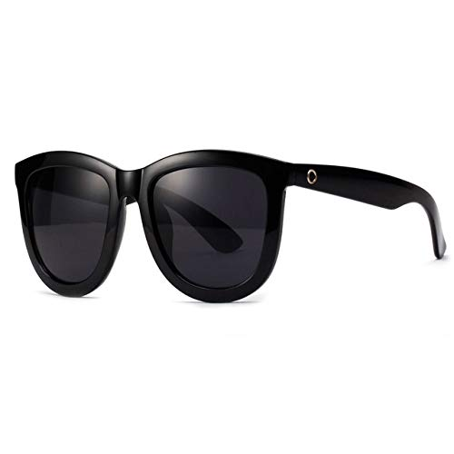LLTYJ Spiegel Sonnenbrille Mode Frauen Retro dicken Rahmen Sonnenbrille männer Sonnenbrille Brillenschwarz