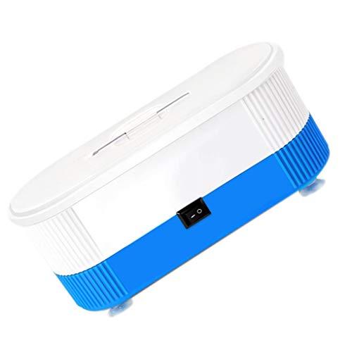 Deinbe Ultraschall-Reinigungsmaschine 3 in 1 Multifunktions-Elektro-Kontaktlinsen Waschmaschine Schmuck zu sehen Waschen Reinigungs-Maschine Blau Blau