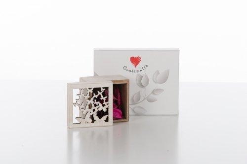 Cuorematto bomboniere solidali 2017 cuoregaio scatola con potpourri 8x8x6 farfalle matrimonio